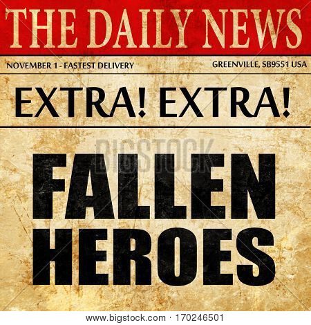fallen heroes, newspaper article text