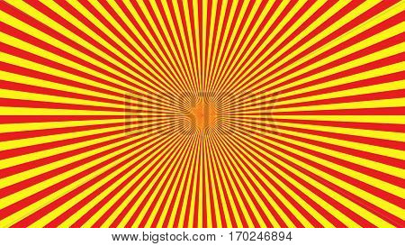 Yellow Orange Rays Poster