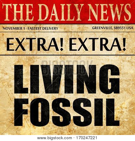 living fossil, newspaper article text