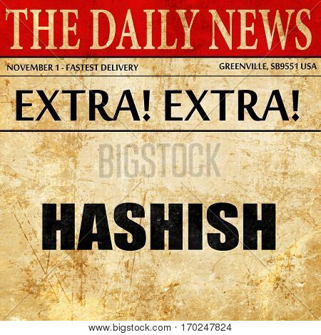 hashish, newspaper article text