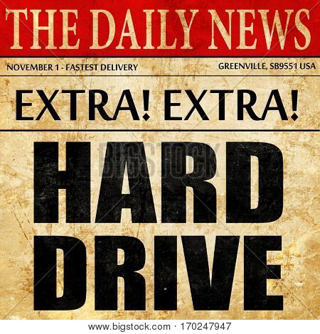 harddrive, newspaper article text