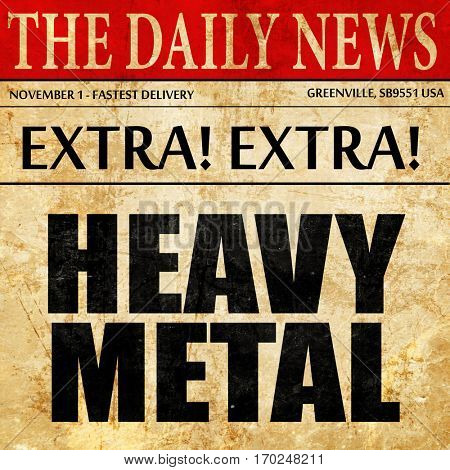 heavy metal music, newspaper article text