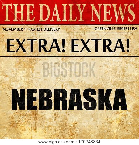nebraska, newspaper article text