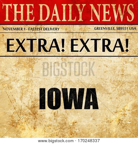 iowa, newspaper article text