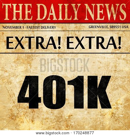401k, newspaper article text