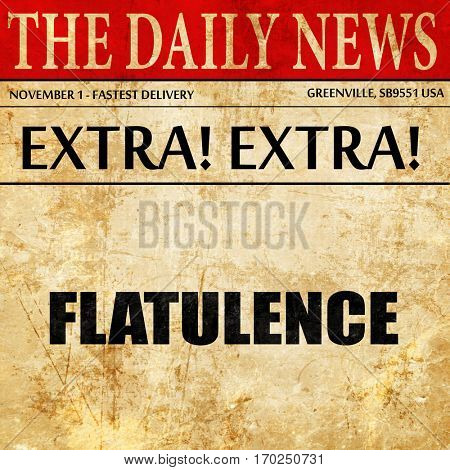 flatulence, newspaper article text