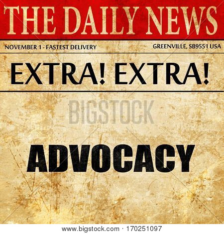 advocacy, newspaper article text