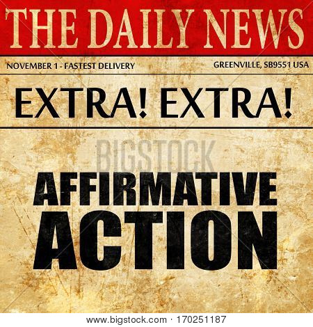 affirmative action, newspaper article text