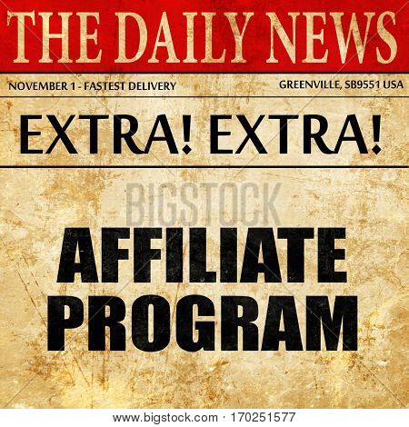 affiliate program, newspaper article text