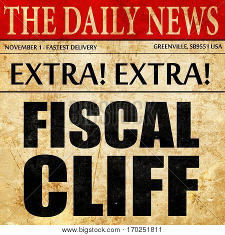 fiscal cliff, newspaper article text