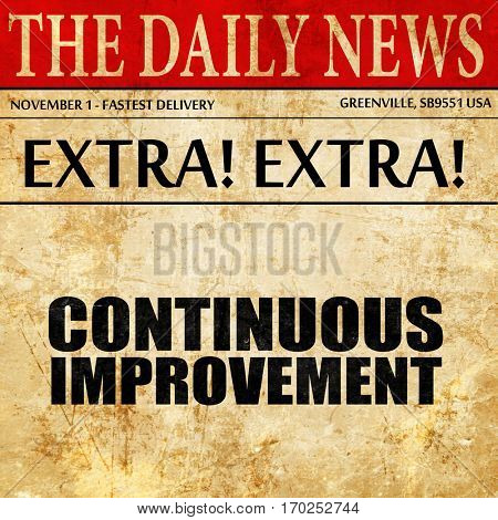 continuous improvement, newspaper article text
