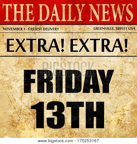 friday 13th, newspaper article text