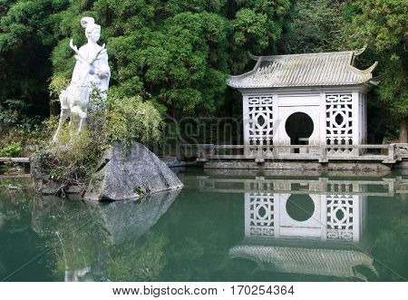 Statue Of Magu (symbolic Protector Of Females In Chinese Mythology), Heng Mountains, China