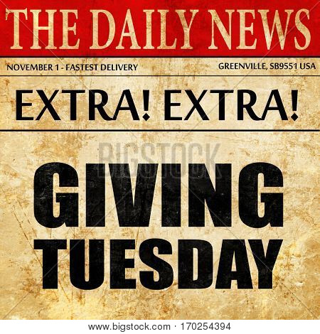 giving tuesday, newspaper article text