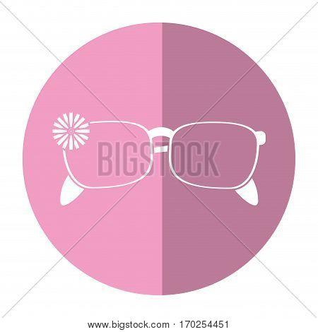 female glasses flower accessory shadow vector illustration eps 10