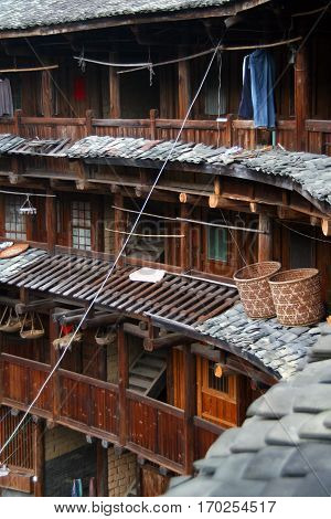 The inner part of round tulou (