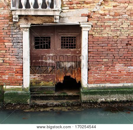 An ancient wall of Venetian house background