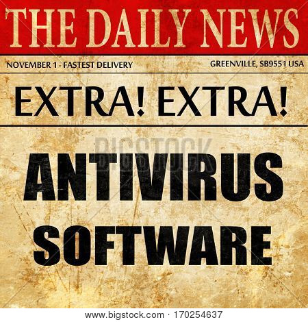 Malware computer background, newspaper article text