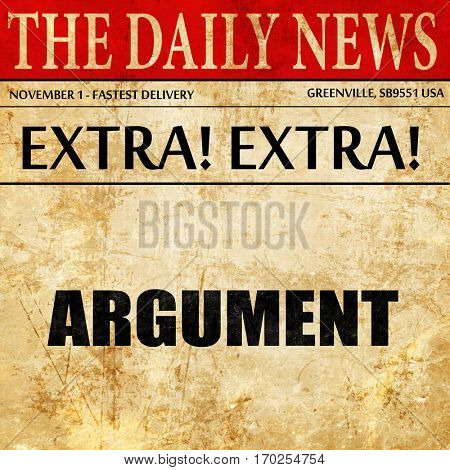 argument, newspaper article text