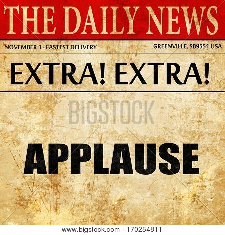 applause, newspaper article text