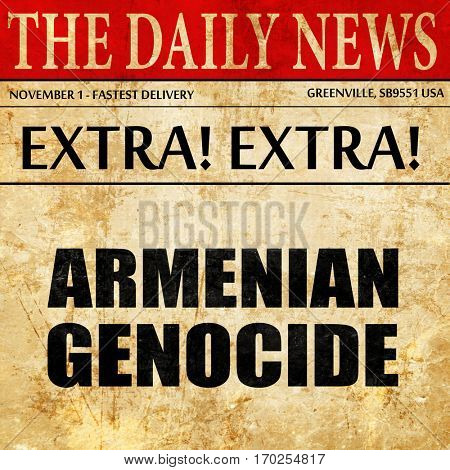 armenian genocide, newspaper article text