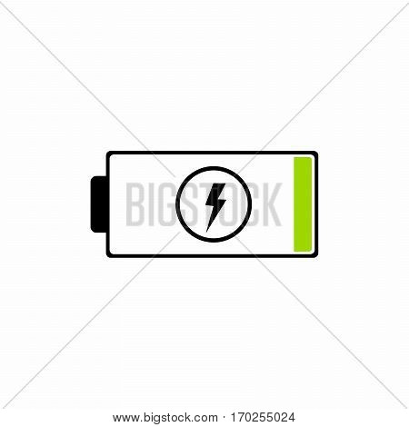 Battery low vector design isolated on white background