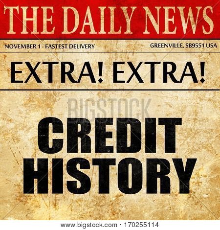 credit history, newspaper article text