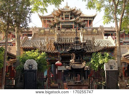 Gao Miao Temple in Zhongwei city Ningxia province China