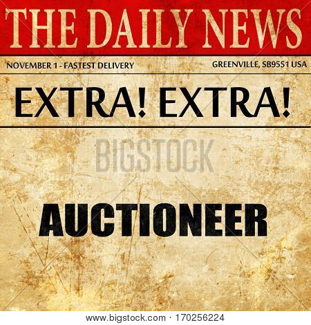 auctioneer, newspaper article text