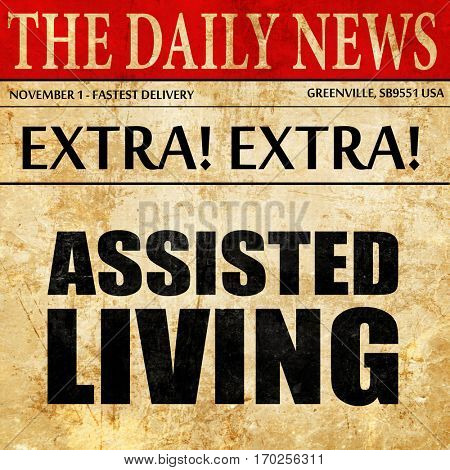 assisted living, newspaper article text