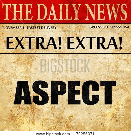 aspect, newspaper article text