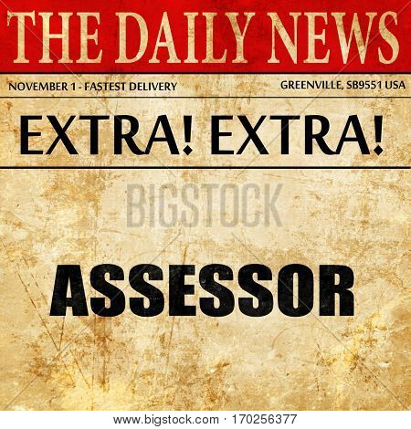 Advisor, newspaper article text