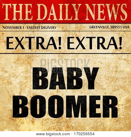 baby boomer, newspaper article text