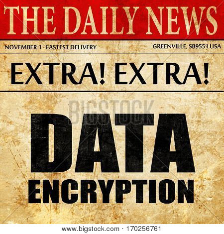 data encryption, newspaper article text