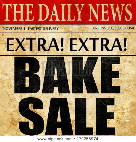 bake sale, newspaper article text