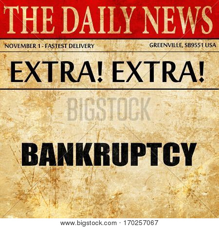 bankruptcy, newspaper article text