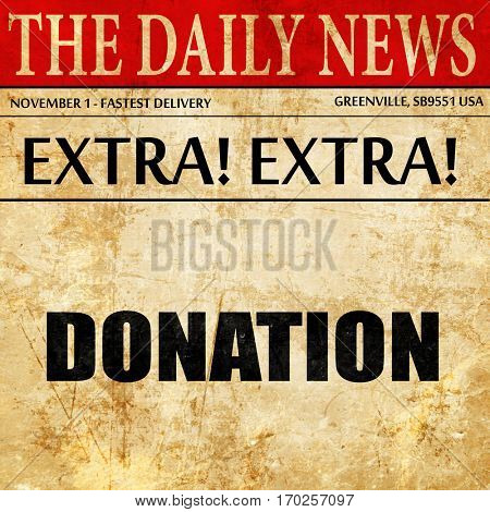 donation, newspaper article text