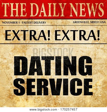 dating service, newspaper article text