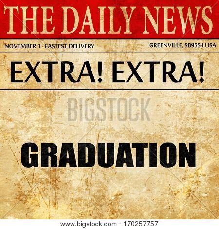 graduation, newspaper article text