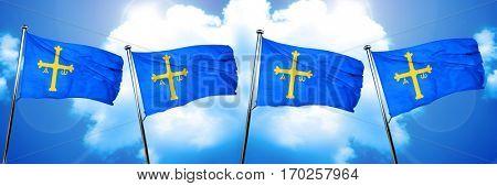 Asturias flag, 3D rendering