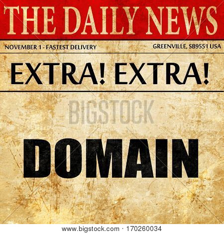 domain, newspaper article text