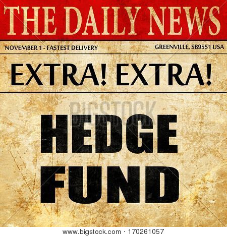 hedge fund, newspaper article text