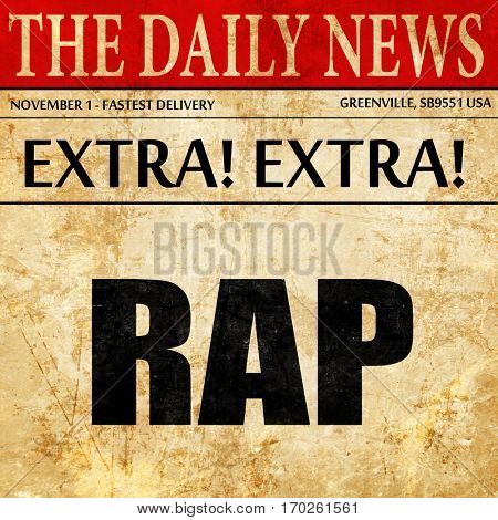 rap music, newspaper article text