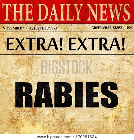 rabies, newspaper article text