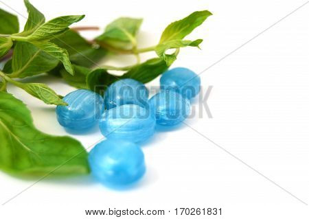 Mouth refreshing mint and menthol sugar pictures