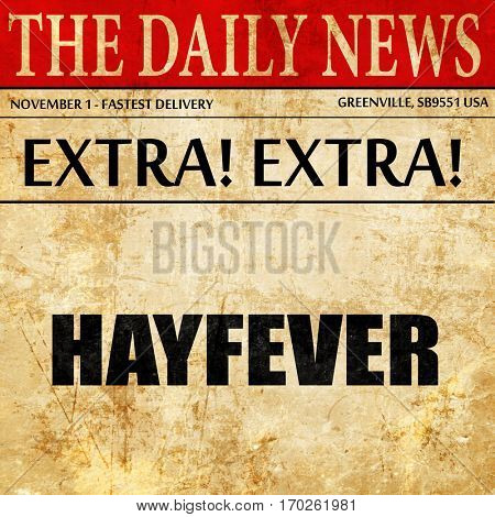 hayfever, newspaper article text