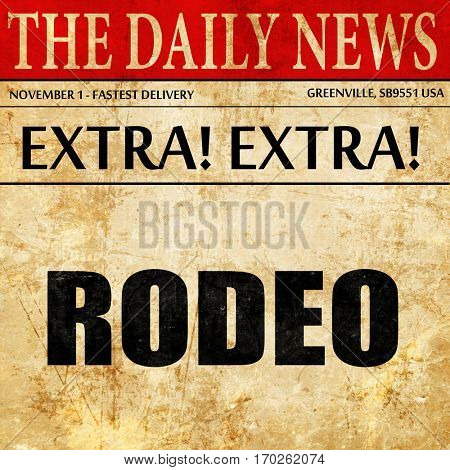rodeo, newspaper article text
