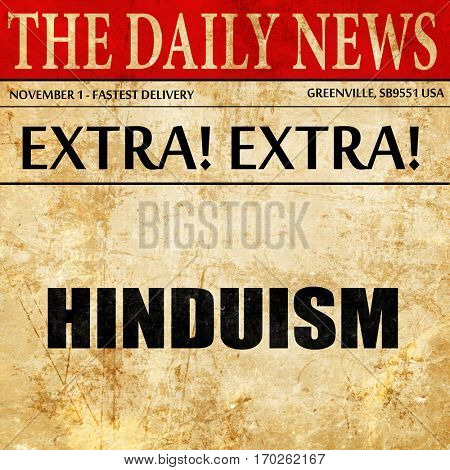 hinduism, newspaper article text