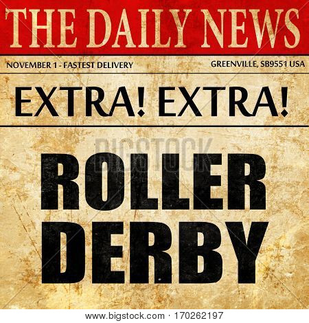 roller derby, newspaper article text