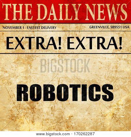 robotics, newspaper article text